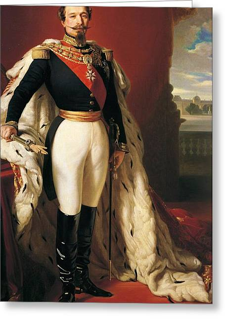 Franz Xaver Winterhalter Greeting Cards - Portrait of Napoleon III Louis Napoleon Bonaparte Greeting Card by Franz Xaver Winterhalter