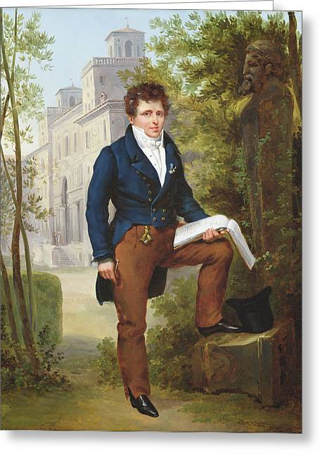 Notebook Greeting Cards - Portrait Of Nicolas-pierre Tiolier Greeting Card by Francois Edouard Picot