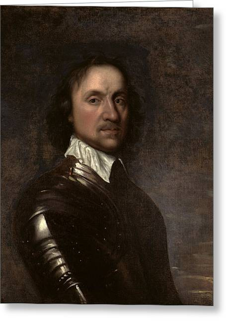 Protector Greeting Cards - Portrait Of Oliver Cromwell 1599-1658 Greeting Card by Robert Walker