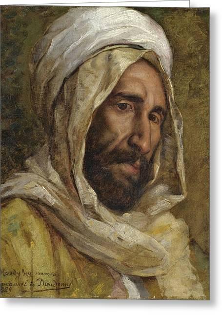 Bey Greeting Cards - Portrait Of Osman Hamdy Bey Greeting Card by Emmanuel De Dieudonne