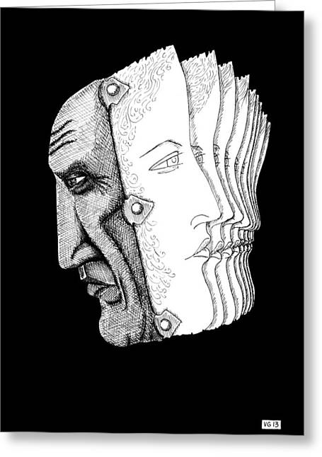 Pablo Greeting Cards - Portrait of Pablo Picasso Greeting Card by Vitaliy Gonikman