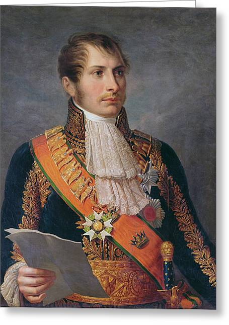 Vice Greeting Cards - Portrait Of Prince Eugene De Beauharnais 1781-1824 Viceroy Of Italy And Duke Of Leuchtenberg Greeting Card by French School
