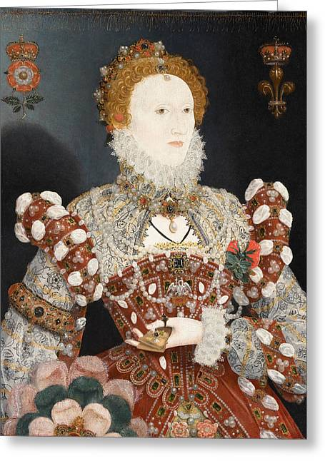 Hilliard Greeting Cards - Portrait of Queen Elizabeth I Greeting Card by Nicholas Hilliard