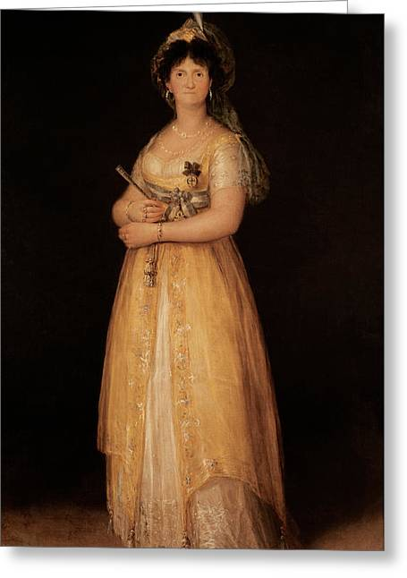 Portrait Of Queen Maria Luisa Greeting Card by Goya