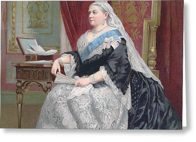 Portrait of Queen Victoria Greeting Card by English School