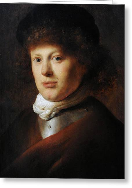 17th Greeting Cards - Portrait Of Rembrandt 1606-1669 By Jan Lievens 1607-1674 Greeting Card by Bridgeman Images