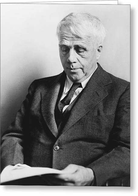 Gray Hair Greeting Cards - Portrait Of Robert Frost Greeting Card by Fred Palumbo