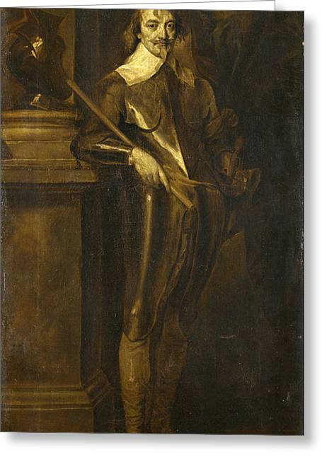 Warwick Paintings Greeting Cards - Portrait of Robert Rich 2nd Earl of Warwick Greeting Card by After Anthony van Dyck