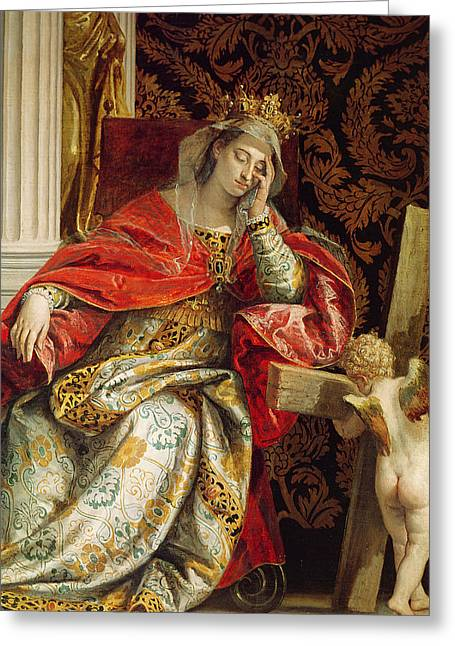 The Wooden Cross Greeting Cards - Portrait of Saint Helena Greeting Card by Veronese