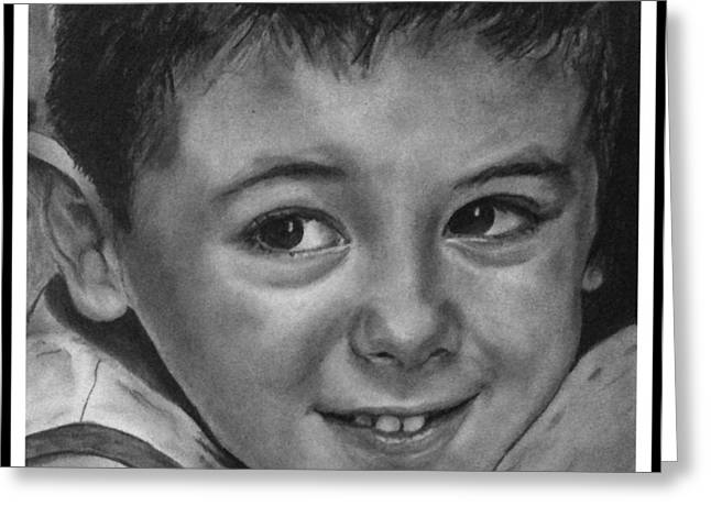 Hyperrealistic Greeting Cards - Portrait of Samuel Greeting Card by Arual Jay