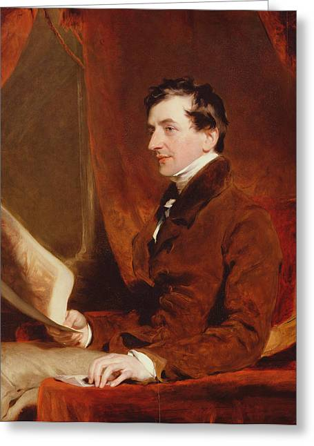 Portrait Of Samuel Woodburn, C.1820 Greeting Card by Sir Thomas Lawrence