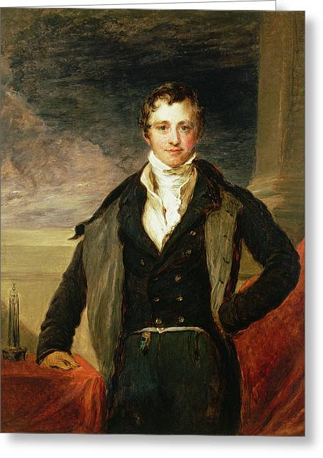 Physicist Greeting Cards - Portrait Of Sir Humphry Davy 1778-1829 Oil Greeting Card by John Linnell