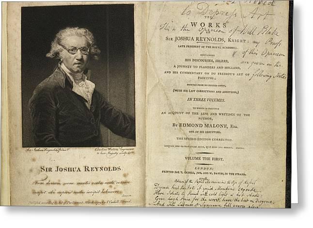 Portrait Of Sir Joshua Reynolds. Greeting Card by British Library
