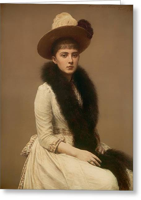 Portaits Greeting Cards - Portrait of Sonia Greeting Card by Henri Fantin-Latour