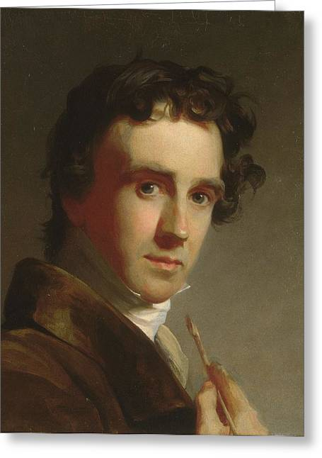 Sully Greeting Cards - Portrait of the Artist Greeting Card by  Thomas Sully
