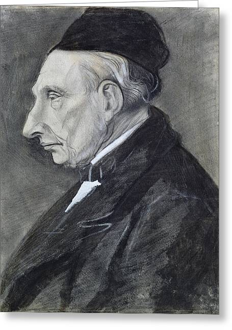 Charcoal Pastels Greeting Cards - Portrait of the Artists Grandfather Greeting Card by Vincent Van Gogh