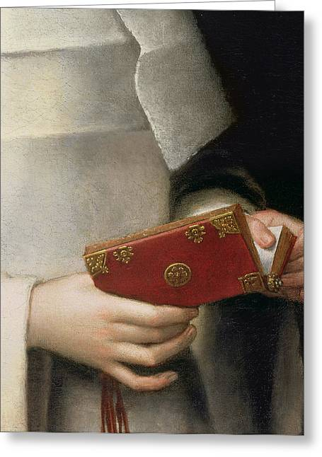 Religious Paintings Greeting Cards - Portrait Of The Artists Sister Greeting Card by Sofonisba Anguissola