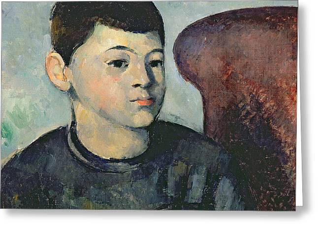 Artist Collection Greeting Cards - Portrait of the Artists Son Greeting Card by Paul Cezanne