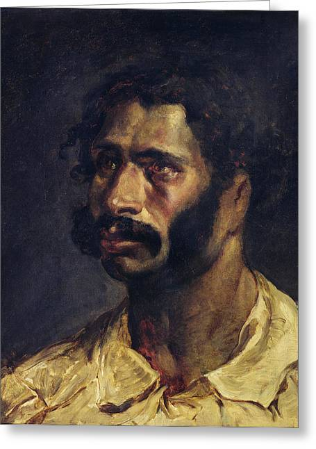 Negro Photographs Greeting Cards - Portrait Of The Carpenter Of The Medusa, C.1812 Oil On Canvas Greeting Card by Theodore Gericault