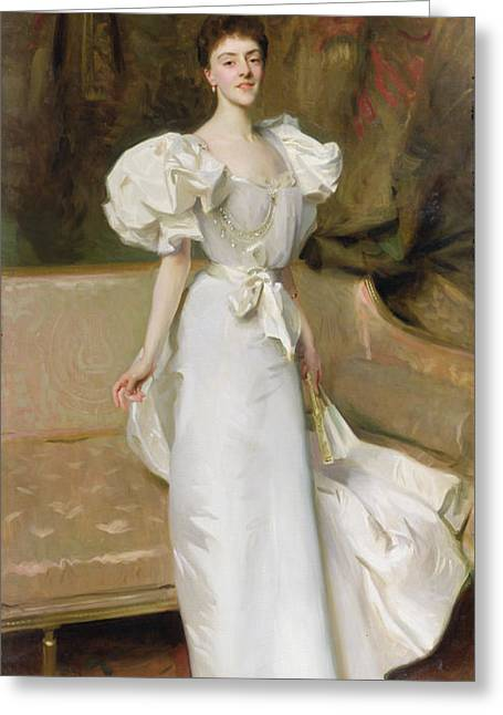 Thin Paintings Greeting Cards - Portrait of the Countess of Clary Aldringen Greeting Card by John Singer Sargent