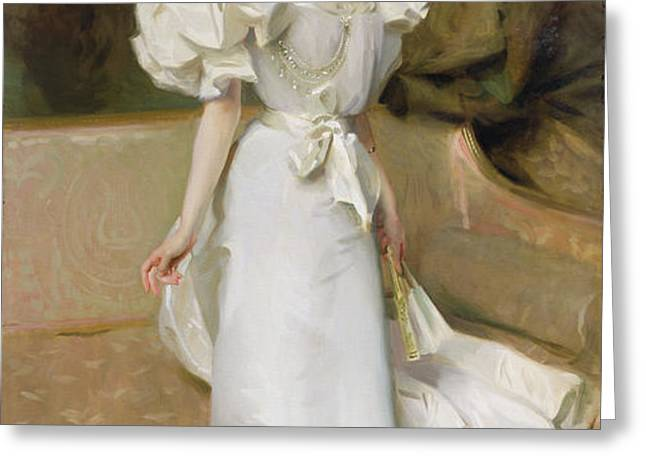 Portrait of the Countess of Clary Aldringen Greeting Card by John Singer Sargent