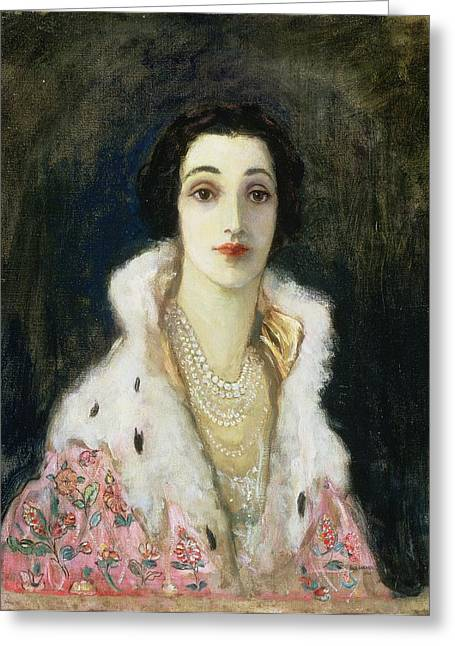 Fur Collar Greeting Cards - Portrait Of The Countess Of Rocksavage Greeting Card by Sir John Lavery