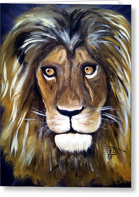 Jesus The Lion Of Judah Greeting Cards - Portrait Of The King Greeting Card by Pamorama Jones