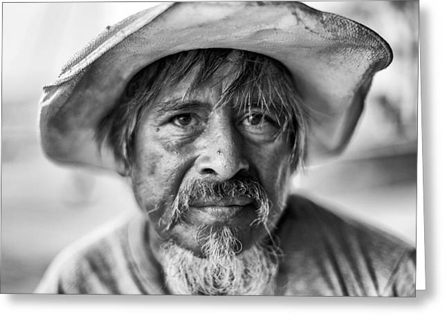 Malecon Greeting Cards - Portrait Of The Less Fortunate Greeting Card by Edward Kreis