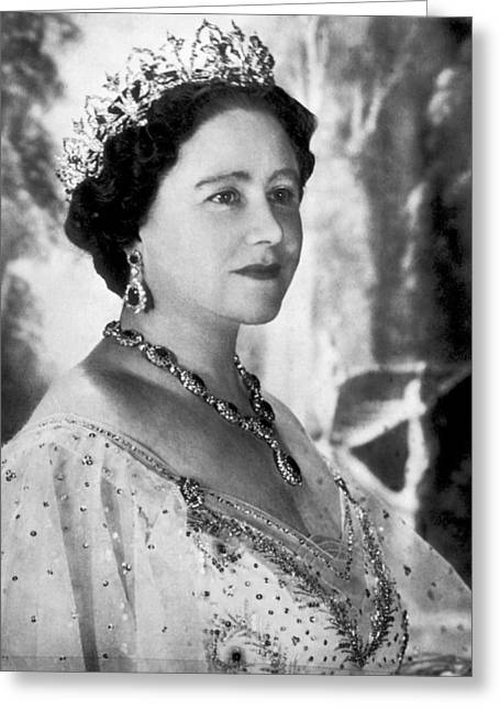 Portrait Of The Queen Mother Greeting Card by Underwood Archives