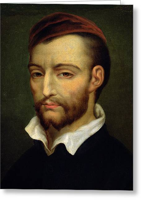 ist Photographs Greeting Cards - Portrait Of Theodore Gericault 1791-1824 Oil On Canvas Greeting Card by Louis Alexis Jamar