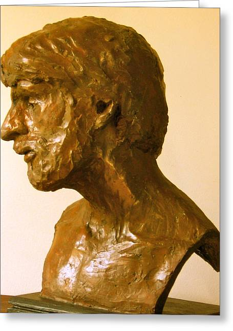 Stronger Sculptures Greeting Cards - Portrait of Thomas Greeting Card by Deborah Dendler