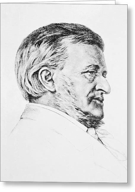 Head And Shoulders Photographs Greeting Cards - Portrait Of Wagner, 19th Century Pencil Greeting Card by Anonymous