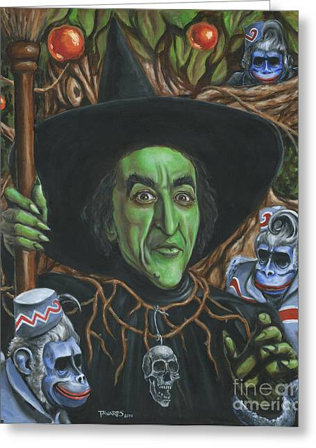 Witch Greeting Cards - Portrait of Wickedness Greeting Card by Mark Tavares