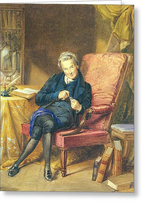 Abolitionist Greeting Cards - Portrait Of William Wilberforce 1759-1833 1833 Wc On Paper Greeting Card by George Richmond