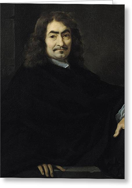 Mathematician Greeting Cards - Portrait presumed to be Rene Descartes Greeting Card by Sebastien Bourdon