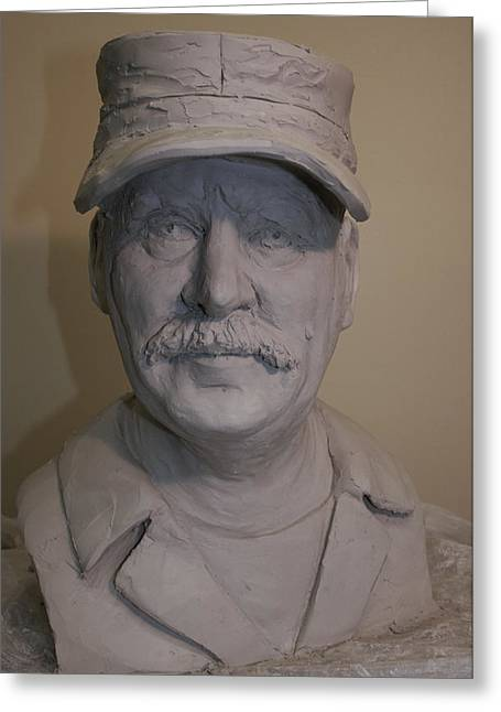 Field Sculptures Greeting Cards - Portrait Sculpture of John Barr Greeting Card by Terri  Meyer