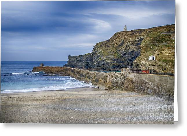 Portreath Before The Storms Greeting Card by Chris Thaxter