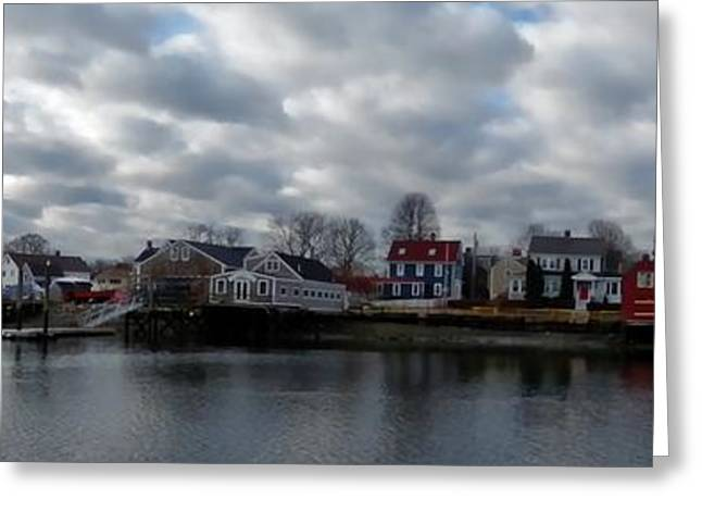 New England Village Greeting Cards - Portsmouth Bay Greeting Card by Marcia Lee Jones