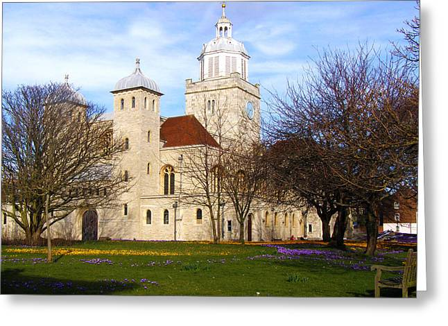 Portsmouth Cathedral at Springtime Greeting Card by Terri  Waters