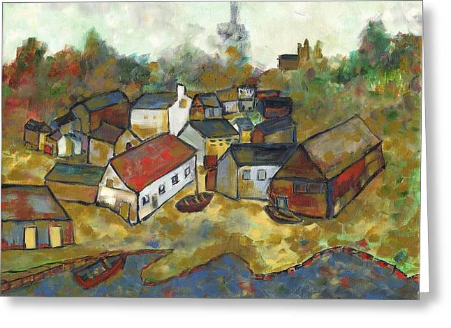 Kingston Paintings Greeting Cards - Portsmouth Greeting Card by David Dossett