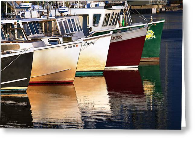 Prescott Greeting Cards - Portsmouth Fishing Fleet Greeting Card by Eric Gendron