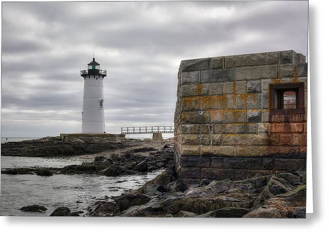 Maine Shore Greeting Cards - Portsmouth Harbor Light Greeting Card by Eric Gendron