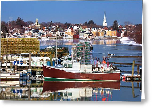 Portsmouth Lobster Boat Greeting Card by Eric Gendron