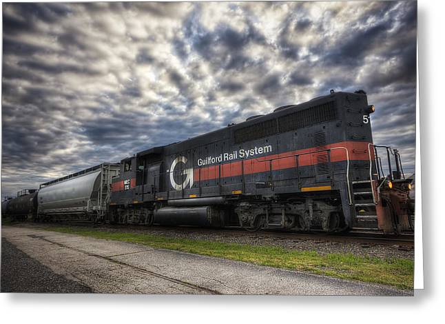 Railyard Greeting Cards - Portsmouth Rail Yard Greeting Card by Eric Gendron