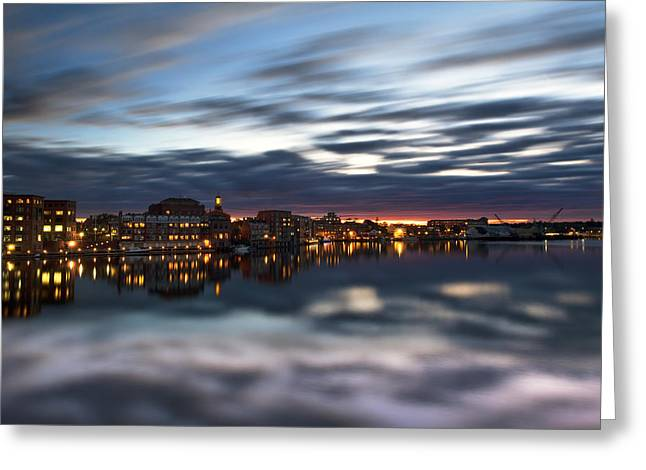 Brick Architecture Greeting Cards - Portsmouth Reflections Greeting Card by Eric Gendron