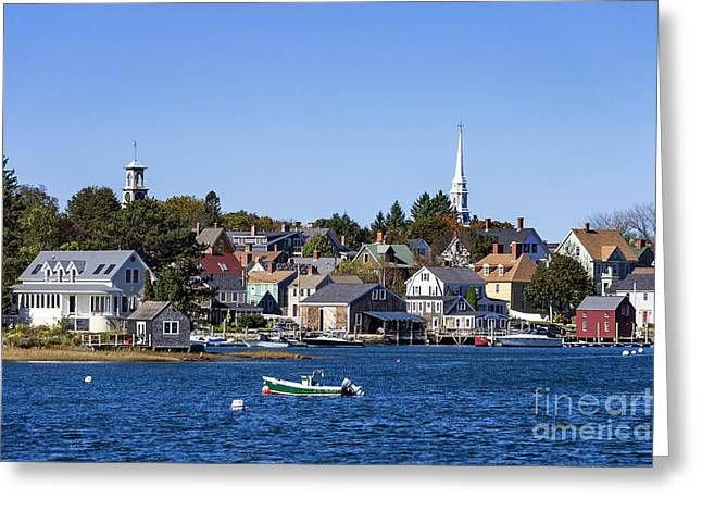 Ocean Panorama Greeting Cards - Portsmouth Skyline Greeting Card by John Greim