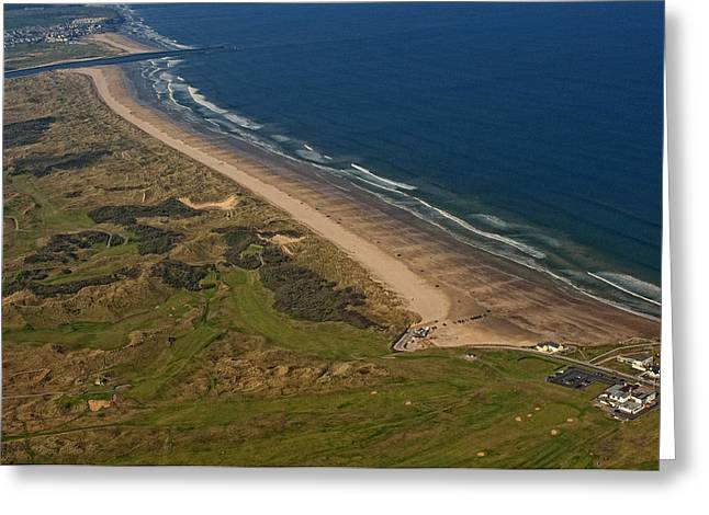 Portstewart Strand, Bushmills Greeting Card by Colin Bailie
