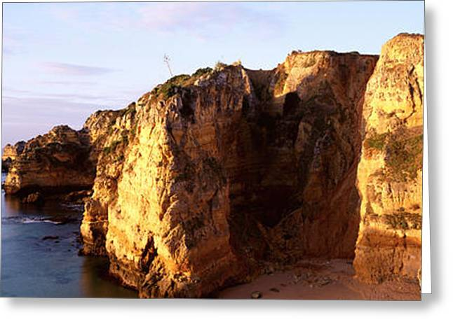 Algarve Greeting Cards - Portugal, Algarve Region, Coastline Greeting Card by Panoramic Images