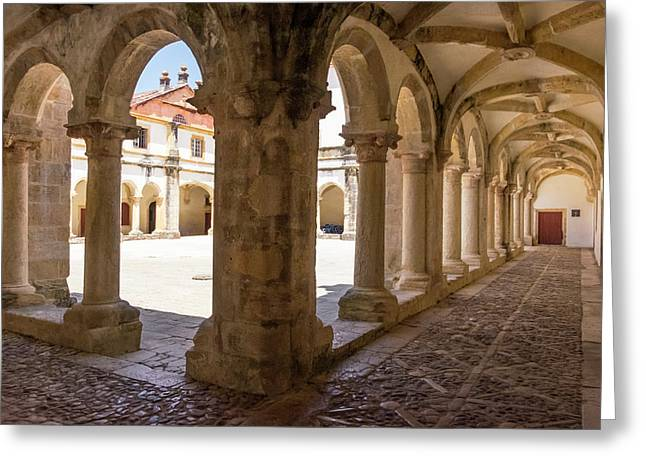Portugal Tomar Castle, Knights Greeting Card by Emily Wilson