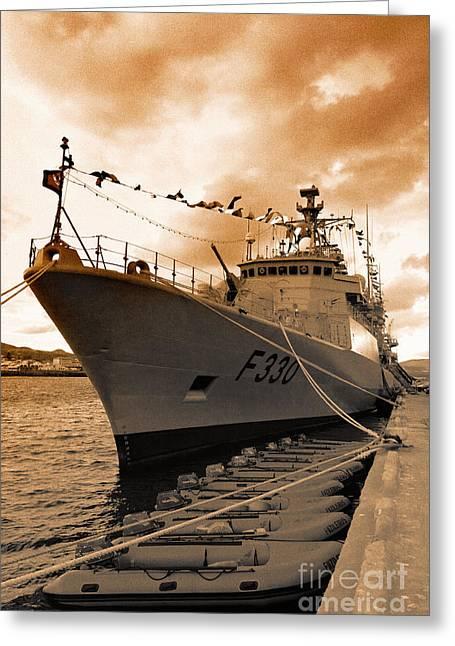 Meko 200pn Greeting Cards - Portuguese Navy frigate F330 Greeting Card by Gaspar Avila